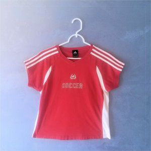 Red Adidas Climacool Cotton Soccer Tee - EUC